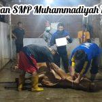 Pemotongan Daging Qurban SMP Muh 1 Simpon di Masa PPKM darurat pandemi C-19 tahun 2022 1442 H